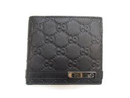 GUCCI グッチ 二つ折財布 365481 ブラック レザー 【新品同様】 メンズ