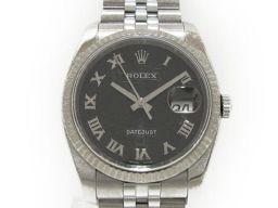 ROLEX ロレックス デイトジャスト 腕時計 ウォッチ 116234 ブラック×シルバー ステンレススチール(S