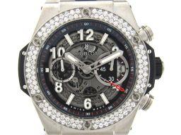 HUBLOT ウブロ ビッグバンウニコ ダイヤモンドベゼル スケルトン ウォッチ 腕時計 メンズ  411.NX.