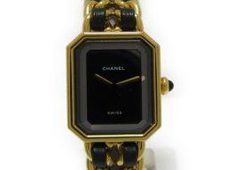 CHANEL シャネル プルミエールM 腕時計 ウォッチ ブラック×ゴールド メッキ×レザー 【中古】【ランクA】