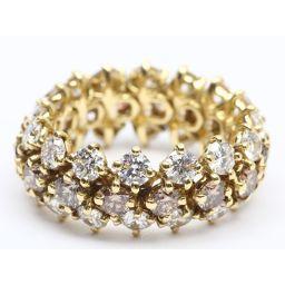 HARRY WINSTON ハリーウィンストン フレキシブルダイヤモンド リング 指輪 クリアー K18YG(75