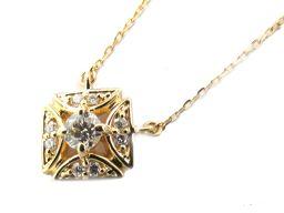 JEWELRY ジュエリー ダイヤモンド ネックレス クリアー K18YG(750) イエローゴールド  x ダイ