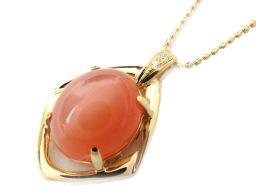 JEWELRY ジュエリー オレンジムーン ダイヤモンド ネックレス オレンジ K18YG(750) イエローゴー