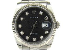 ROLEX ロレックス デイトジャスト ダイヤモンド ウォッチ 腕時計 メンズ 116234G ブラック ステンレ
