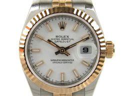 ROLEX ロレックス デイトジャスト ウォッチ 腕時計 レディース 179171 ホワイト ステンレススチール(