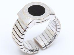 BVLGARI ブルガリ トゥボガス オニキスリング 指輪 シルバー K18WG(750) ホワイトゴールド  x