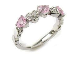 4℃ ヨンドシー ピンクサファイア/ダイヤモンドリング 指輪 ピンク K18WG(750) ホワイトゴールド  x