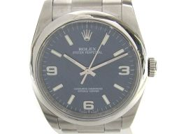 ROLEX ロレックス オイスター パーペチュアル ウォッチ 腕時計 メンズ 116000 ブルー ステンレススチ