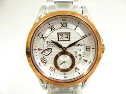SEIKO セイコー プルミエ キネティック 腕時計 ウォッチ SNP080P1 シルバー ステンレススチール(S