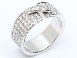 CHAUMET ショーメ リアンリング 指輪 クリアー K18WG(750) ホワイトゴールド  x ダイヤモンド