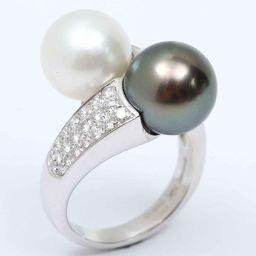 BOUCHERON ブシュロン パール ダイヤモンド リング 指輪 クリアー K18WG(750) ホワイトゴール
