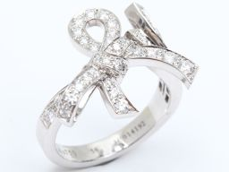 Van Cleef & Arpels ヴァンクリーフ&アーペル リュバン ダイヤモンド リング 指輪 クリアー K