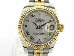 ROLEX ロレックス デイトジャスト腕時計 ウォッチ 179173 シルバー K18YG(750)イエローゴール