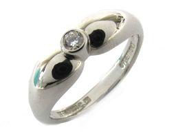 TIFFANY&CO ティファニー ダブルティアドロップ 1Pダイヤモンド リング 指輪 クリアー PT950 プ