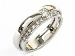 DAMIANI ダミアーニ ダイヤモンド リング 指輪 シルバー K18WG(750) ホワイトゴールド  x ダ