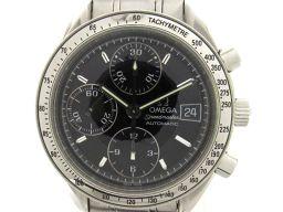 OMEGA オメガ スピードマスター デイト ウォッチ 腕時計 メンズ ブラック ステンレススチール(SS) 【中