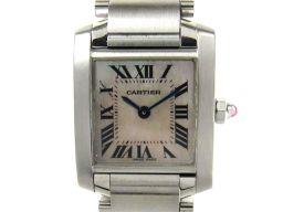 Cartier カルティエ タンクフランセーズSM ウォッチ 腕時計 レディース 2384 ピンク ステンレススチ