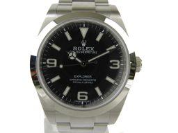 ROLEX ロレックス エクスプローラー1 新型文字盤 ウォッチ 時計 214270 シルバー ステンレススチール