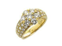 Van Cleef & Arpels ヴァンクリーフ&アーペル フルーレット ダイヤモンド リング 指輪 クリアー