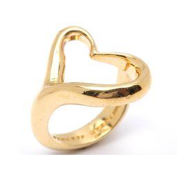 TIFFANY&CO ティファニー オープンハート リング 指輪 ゴールド K18YG(750) イエローゴールド