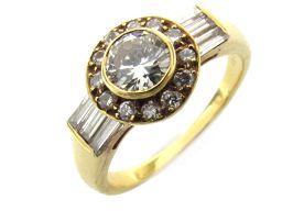 BOUCHERON ブシュロン ダイヤモンド リング 指輪 クリアー K18YG(750) イエローゴールド  x