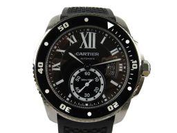 Cartier カルティエ カルブルドゥカルティエ ダイバー ウォッチ 時計 W7100056 ブラック ステンレ