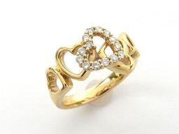4℃ ヨンドシー ダイヤモンド リング 指輪 クリアー K18YG(750) イエローゴールド  x ダイヤモンド