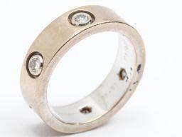 Cartier カルティエ ラブリング フルダイヤモンド 指輪 シルバー K18WG(750) ホワイトゴールド