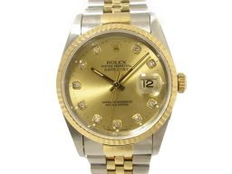 ROLEX ロレックス デイトジャスト 10Pダイヤモンド 腕時計 ウォッチ 16233G ゴールド ステンレスス