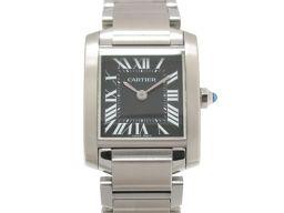 Cartier カルティエ タンクフランセーズSM 腕時計 ウォッチ W51026Q3 ブラック ステンレススチー