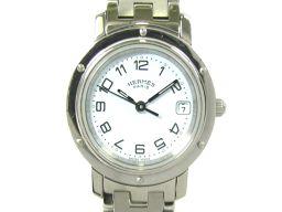 HERMES エルメス クリッパー ウォッチ 腕時計 レディース CL4.210 ブルー ステンレススチール(SS