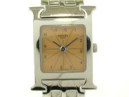 HERMES エルメス Hウォッチ ウォッチ 腕時計 HH1.210 ピンク ステンレススチール(SS) 【中古】