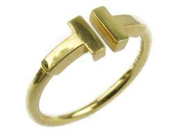 TIFFANY&CO ティファニー Tワイヤー リング 指輪 ゴールド K18YG(750) イエローゴールド 【