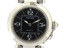 Cartier カルティエ パシャC ウォッチ 腕時計 メンズ ブラック ステンレススチール(SS) 【中古】【ラ