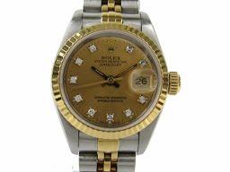 ROLEX ロレックス デイトジャスト 10Pダイヤモンド 腕時計 ウォッチ 69173G X番 ゴールド K18