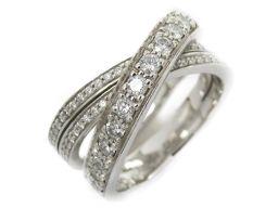 Cartier カルティエ エタンセルドゥカルティエ ダイヤリング 指輪 クリアー K18WG(750) ホワイト