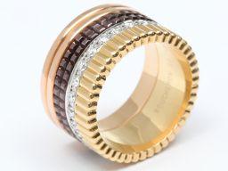 BOUCHERON ブシュロン キャトル ダイヤモンド リング 指輪 ゴールド K18YG(750) イエローゴー