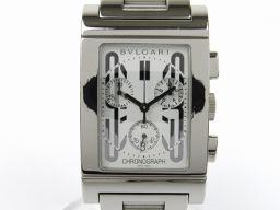 BVLGARI ブルガリ レッタンゴロ クロノ ウォッチ 腕時計 RTC49S シルバー ステンレススチール(SS