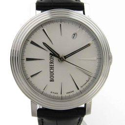 BOUCHERON ブシュロン ロンド ウォッチ 腕時計 ホワイト レザーベルト xステンレススチール(SS) 【