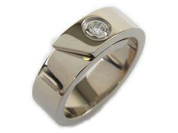 Cartier カルティエ アニバーサリーリング 1Pダイヤモンド リング 指輪 ホワイト K18WG(750)