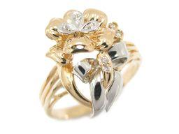 JEWELRY ジュエリー ダイヤモンド リング 指輪 クリアー K18YG(750) イエローゴールド  x P