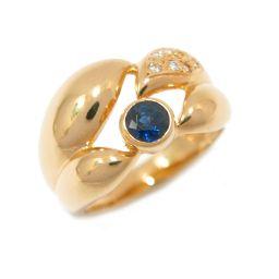 JEWELRY ジュエリー サファイア リング 指輪 ブルー K18YG(750) イエローゴールド  x サファ