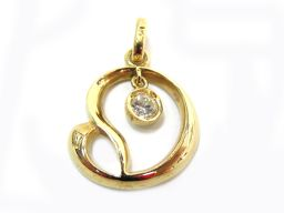 JEWELRY ジュエリー ダイヤモンドネックレストップ ゴールド K18YG(750) イエローゴールド ×ダイ