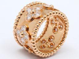 Van Cleef & Arpels ヴァンクリーフ&アーペル ダイヤモンド リング 指輪 クリアー K18PG(