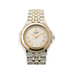 SEIKO セイコー クレドール 腕時計 レディース ウォッチ 4J81-0A30 シルバー x ホワイト ステン