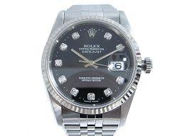 ROLEX ロレックス デイトジャスト 腕時計 ウォッチ メンズ 16234G シルバー ステンレススチール(SS