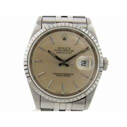 ROLEX ロレックス デイトジャスト ウォッチ 腕時計 16220 シルバー ステンレススチール(SS) 【中古