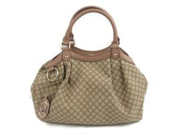 GUCCI Gucci Sukey Tote Bag 211944 Beige x Pink Canvas x Leather [Used] [Rank