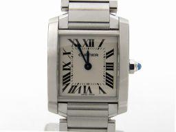 Cartier カルティエ タンクフランセーズSM ウォッチ 腕時計 W51008Q3 シルバー ステンレススチー