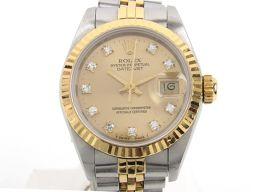 ROLEX ロレックス デイトジャスト 10Pダイヤモンド ウォッチ 腕時計 69173G 98番 シルバー K1